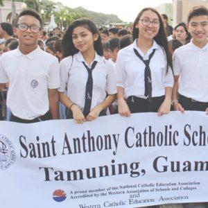 StAnthonySchool Guam Students Banner